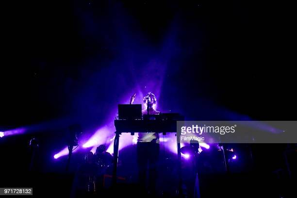 Justin Vernon of Bon Iver performs on Which Stage during day 3 of the 2018 Bonnaroo Arts And Music Festival on June 9 2018 in Manchester Tennessee