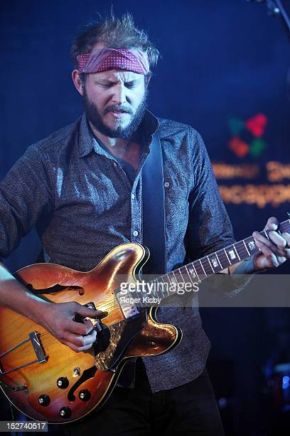 Justin Vernon of Bon Iver performs onstage at The Angel Orensanz Foundation on September 24 2012 in New York City
