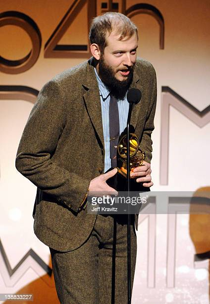 Justin Vernon of Bon Iver speaks onstage at the 54th Annual GRAMMY Awards held at Staples Center on February 12 2012 in Los Angeles California