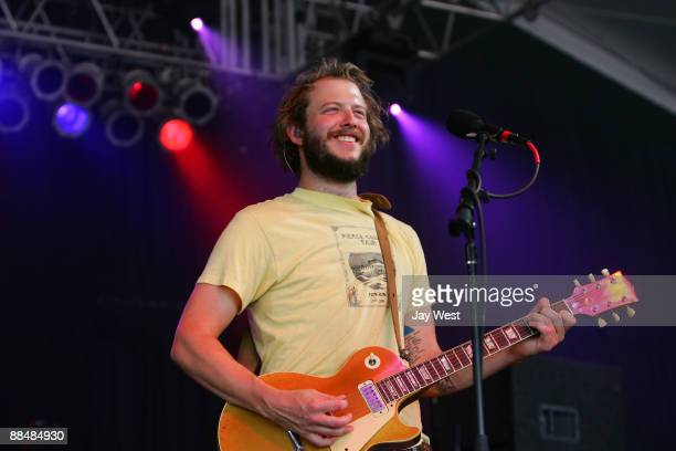 Justin Vernon of the band Bon Iver performs during the 2009 Bonnaroo Music and Arts Festival on June 13 2009 in Manchester Tennessee