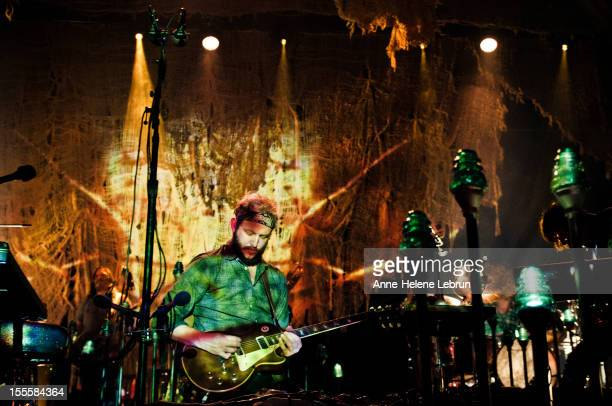 Justin Vernon of the band Bon Iver performs live during a concert at Arena on November 5 2012 in Berlin Germany