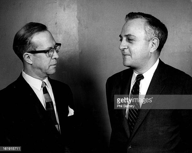 NOV 14 1966 NOV 16 1966 Justin W Brierly left Discusses Immigrant Activities With Official Joe Jefferson director of American council for Emigres in...