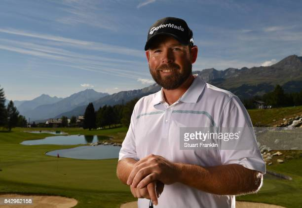 Justin Walters of South Africa poses for a picture during practice prior to the start of the Omega European Masters at CranssurSierre Golf Club on...