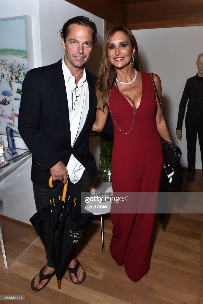 Justin Ward and Carole Crist attend ARTrageous Gala + Art Auction benefitting Hour Children at a Private Residence on August 18, 2017 in Southampton, New York.