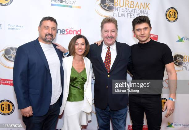 "Justin Ward, Terry Nardozzi, Brad Wilson and Mateus Ward attend the premiere of ""Relish"" at the Burbank International Film Festival at AMC Burbank 16..."