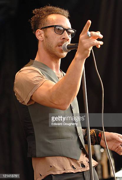Justin Warfield of She Wants Revenge during 6th Annual Village Voice Siren Music Festival at Coney Island in Brooklyn, New York, United States.