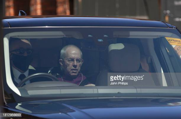 Justin Welby, the Archbishop of Canterbury arrives at Windsor Castle on April 17, 2021 in Windsor, England. The Duke of Edinburgh travelled...