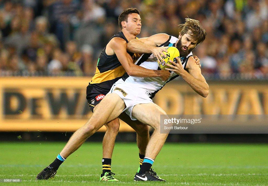 AFL Rd 6 - Richmond v Port Adelaide : News Photo