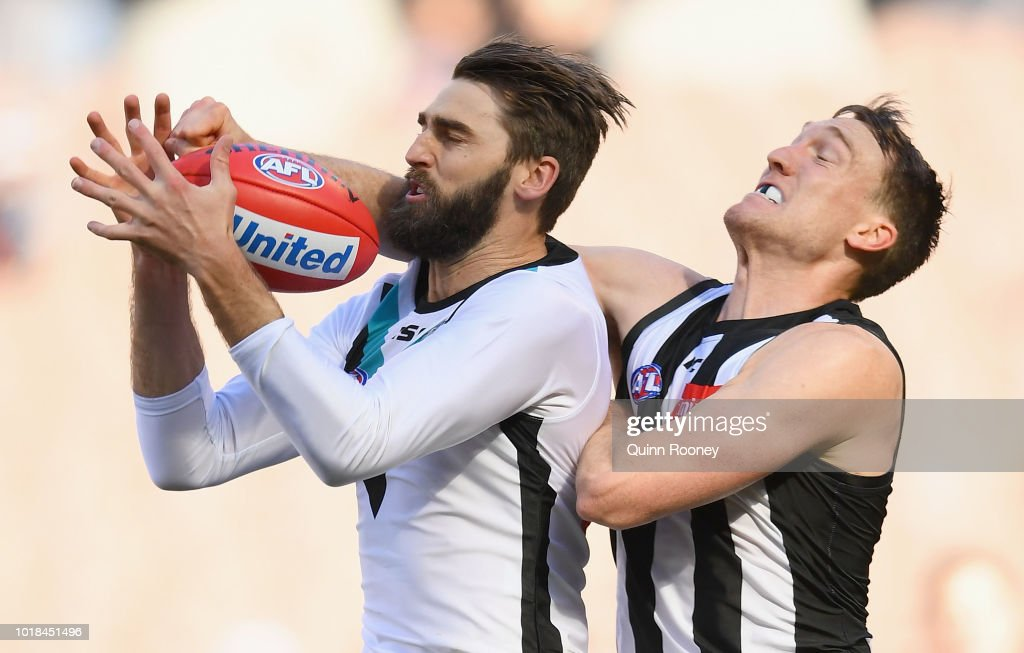 AFL Rd 22 - Collingwood v Port Adelaide