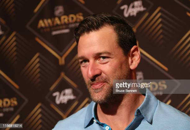 Justin Williams of the Carolina Hurricanes attends the 2019 NHL Awards nominee media availability at the Encore Las Vegas on June 18 2019 in Las...