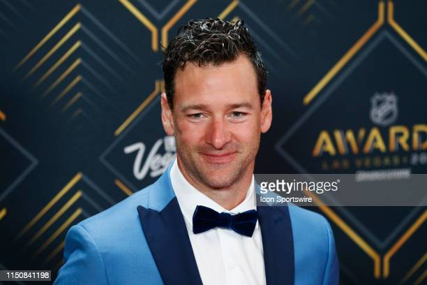 Justin Williams of the Carolina Hurricanes poses for photos on the red carpet during the 2019 NHL Awards at Mandalay Bay Resort and Casino on June...