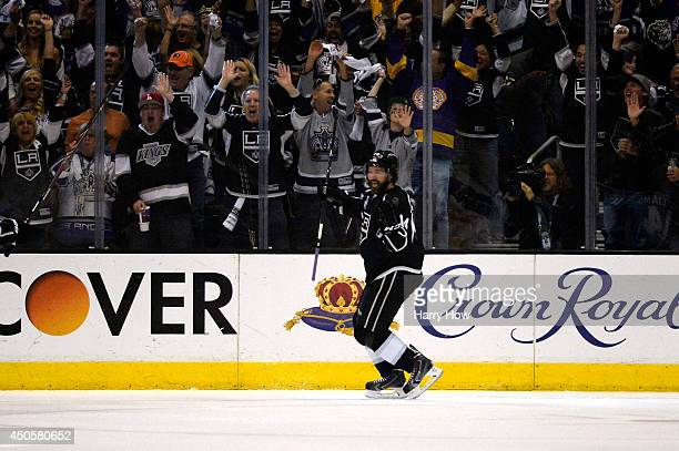 Justin Williams of the Los Angeles Kings celebrates his first period goal against the New York Rangers during Game Five of the 2014 Stanley Cup Final...