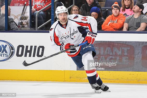 Justin Williams of the Washington Capitals skates against the Columbus Blue Jackets on January 2 2016 at Nationwide Arena in Columbus Ohio