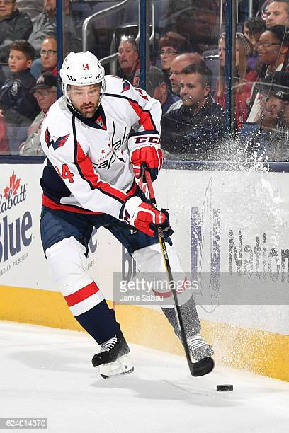 Justin Williams of the Washington Capitals skates against the Columbus Blue Jackets on November 15 2016 at Nationwide Arena in Columbus Ohio Columbus...