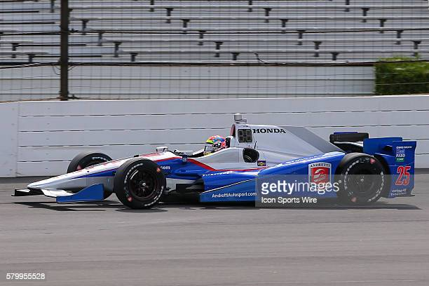 Justin Wilson driver of the Andretti Autosports Honda during the Verizon IndyCar Series ABC Supply 500 at Pocono Raceway in Long Pond PA Ryan...