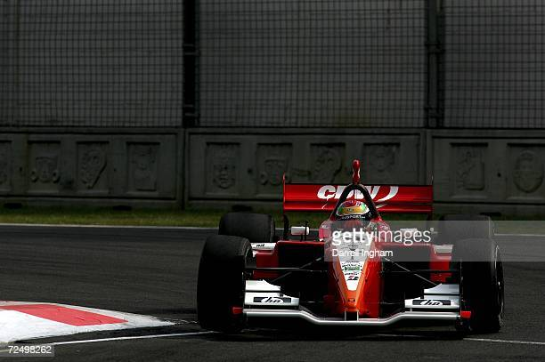 Justin Wilson drives the RuSPORT Lola Cosworth during practice for the Champ Car World Series Gran Premio Telmex at the Autodromo Hermanos Rodriguez...
