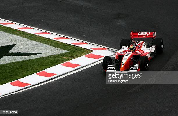 Justin Wilson drives the RuSPORT Lola Cosworth during the ChampCar World Series Gran Premio Telmex on November 12 2006 at the Autodromo Hermanos...