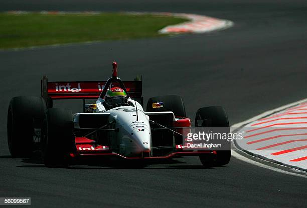 Justin Wilson driving the Intel RuSport Lola Ford Cosworth during practice for the ChampCar World Series Gran Premio TelmexTecate on November 5 2005...