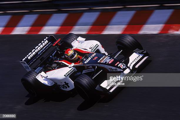Justin Wilson of Great Britain and Minardi in action during the Monaco Formula One Grand Prix held on June 1, 2003 in Monte Carlo, Monaco.