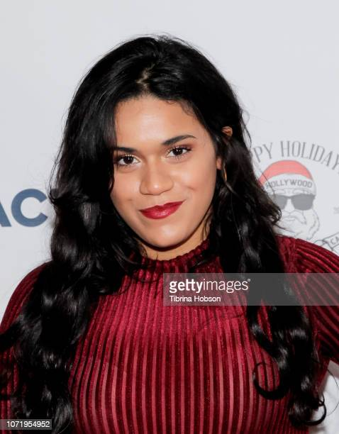Justina Adorno attends the 6th annual Winter Wonderland Toys for Tots Party hosted by Katie Welch and Jordan Kuker on December 11 2018 in Los Angeles...