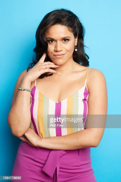 Justina Adorno of ABC's 'Grand Hotel' poses for a portrait during the 2019 Winter TCA Portrait Studio at The Langham Huntington Pasadena on February...