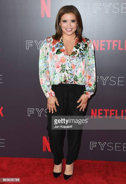 Justina Machado attends Comediennes In Conversation at Netflix FYSEE at Raleigh Studios on May 29 2018 in Los Angeles California
