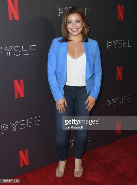 Justina Machado attends #NETFLIXFYSEE Event For 'One Day At A Time' at Netflix FYSEE At Raleigh Studios on June 2 2018 in Los Angeles California