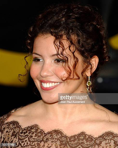 Justina Machado wearing Erica Courtney earrings during 10th Annual Screen Actors Guild Awards - Arrivals at Shrine Auditorium in Los Angeles,...