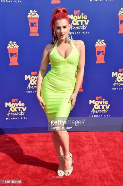 Justina Valentine attends the 2019 MTV Movie and TV Awards at Barker Hangar on June 15 2019 in Santa Monica California
