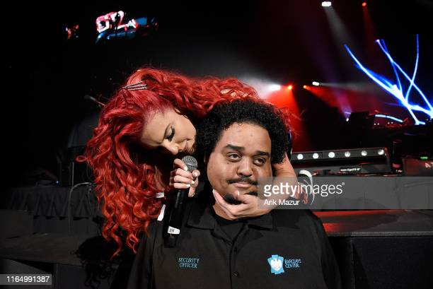 Justina Valentine performs at the Soulfrito Music Festival at Barclays Center on August 30 2019 in New York City