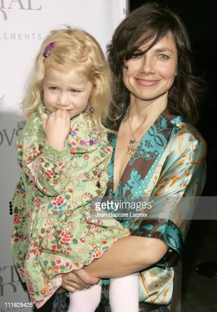 Justine Bateman and daughter Gianetta during Swarovski Runway Rocks LA Arrivals at ACE Gallery in Los Angeles California United States