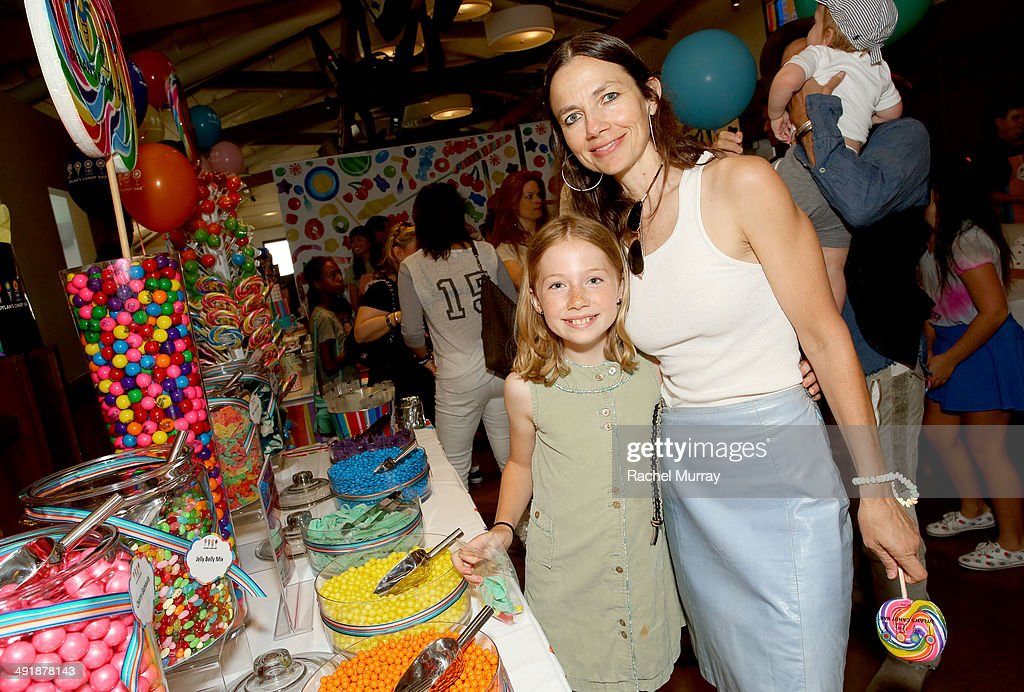 Justine Bateman (R) and Gianetta Fluent attend Dylan's Candy Bar Candy Girl Collection LA launch event at Dylan's Candy Bar on May 17, 2014 in Los Angeles, California.