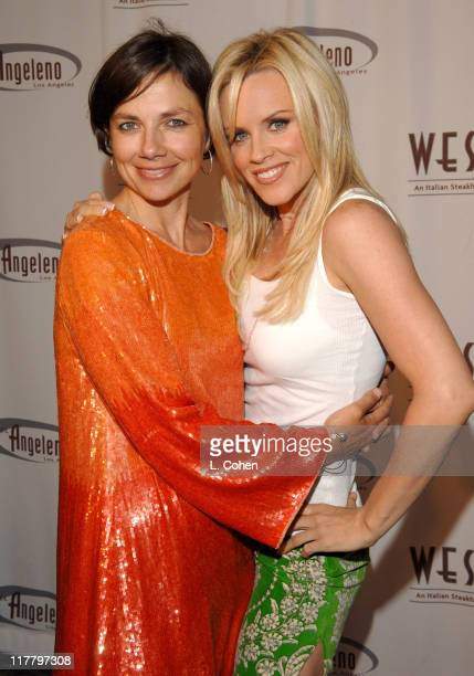 Justine Bateman and Jenny McCarthy during Hotel Angeleno Grand Opening at Hotel Angeleno in Los Angeles California United States