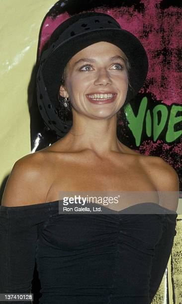Justine Bateman attends Fifth Annual MTV Video Music Awards on September 7 1988 at the Universal Ampitheater in Universal City California