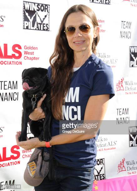 Justine Bateman attends Nanci Ryder's Team Nanci 15th Annual LA County Walk To Defeat ALS at Exposition Park on October 15 2017 in Los Angeles...