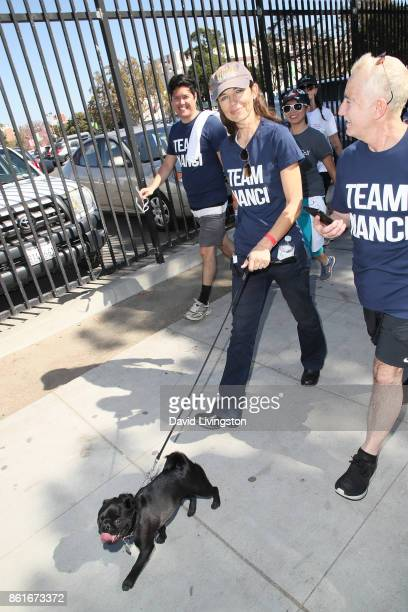 Justine Bateman attends Nanci Ryder's Team Nanci at the 15th Annual LA County Walk to Defeat ALS at the Exposition Park on October 15 2017 in Los...