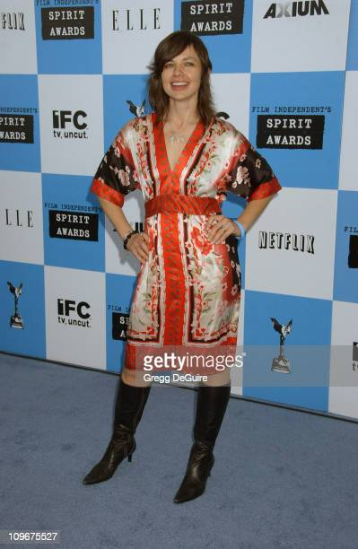 Justine Bateman during 2007 Film Independent's Spirit Awards Arrivals at Santa Monica Pier in Santa Monica California United States