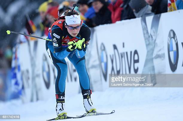 Justine Braisaz of France competes during the IBU Biathlon World Cup Men's and Women's Pursuit on January 15 2017 in Ruhpolding Germany