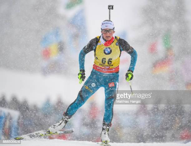 Justine Braisaz of France competes in the 75 km Women's Sprint during the BMW IBU World Cup Biathlon on December 8 2017 in Hochfilzen Austria