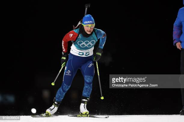Justine Braisaz of France in action during the Biathlon Women's 75km Sprint at Alpensia Biathlon Centre on February 10 2018 in Pyeongchanggun South...
