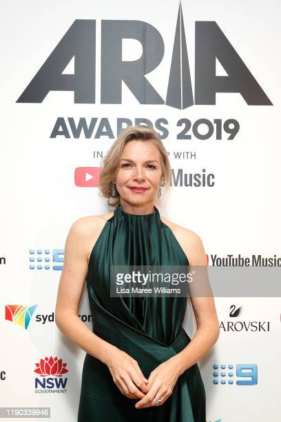 Justine Clarke poses in awards room during the 33rd Annual ARIA Awards 2019 at The Star on November 27 2019 in Sydney Australia