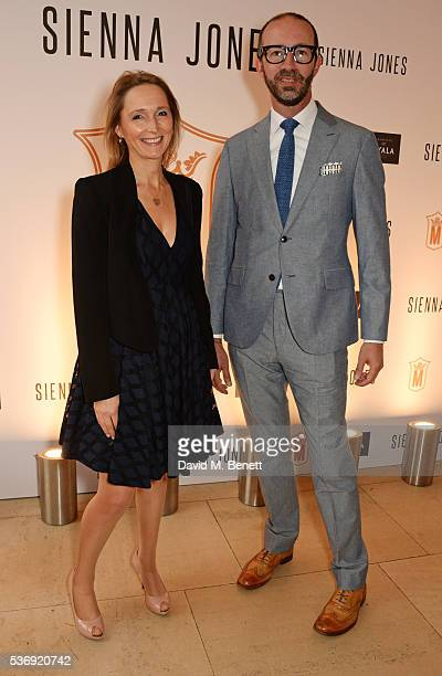 Justine Dalby and Austin Mutti-Mewse attend the launch of British fashion brand Sienna Jones' debut collection 'The Marina Range' at The Orangery,...