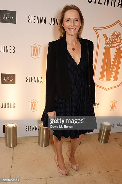 Justine Dalby attends the launch of British fashion brand Sienna Jones' debut collection 'The Marina Range' at The Orangery, Kensington Palace, on...
