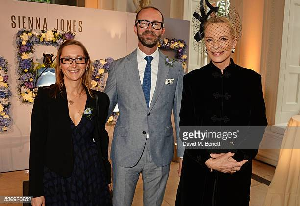Justine Dalby, Austin Mutti-Mewse and Princess Michael of Kent attend the launch of British fashion brand Sienna Jones' debut collection 'The Marina...