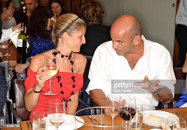 Justine DobbsHigginson and Guy Dellal attend dinner at Soho House on June 29 2009 in London England