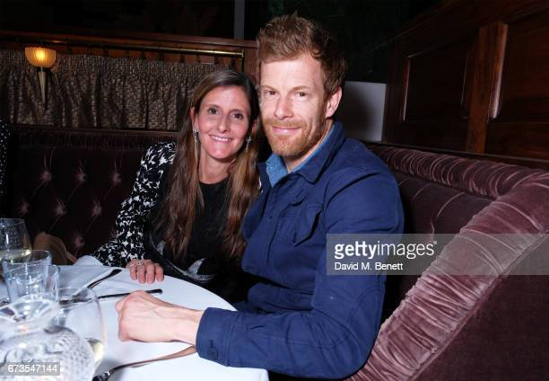 Justine DobbsHigginson and Tom Aikens attend the launch of The Ned London on April 26 2017 in London England