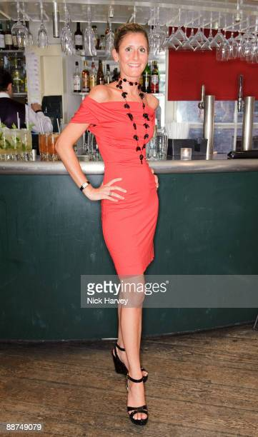Justine DobbsHigginson attends dinner at Soho House on June 29 2009 in London England