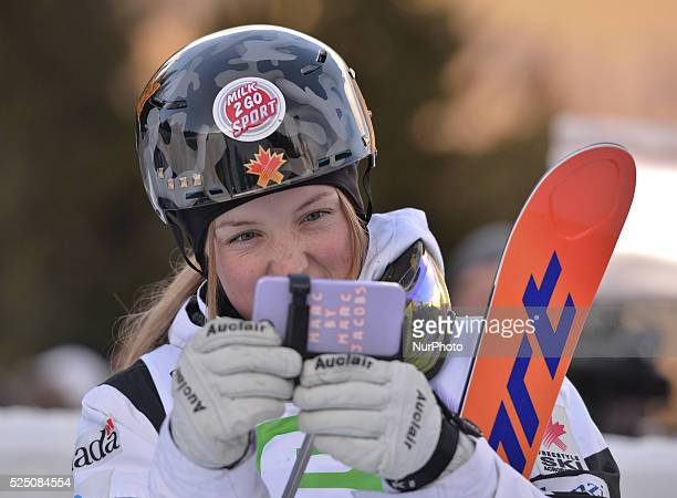 Justine Dufour-Lapointe, a Canadian freestyle skier , loves her selfies taken everywhere she goes. FIS Freestyle World SKI Championship 2015 in...