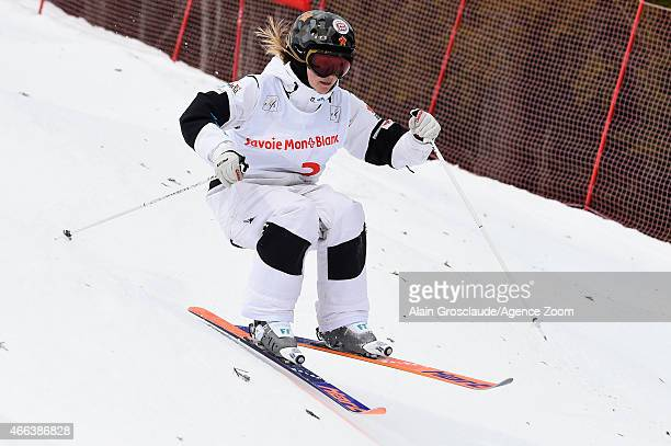 Justine DufourLapointe of Canada competes during the FIS Freestyle Skiing Dual Moguls on March 15 2015 in Megeve France