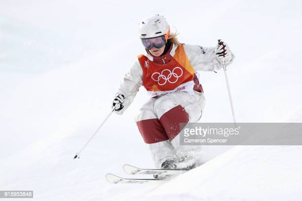 Justine DufourLapointe of Canada competes during the Ladies' Freestyle Skiing Moguls qualification ahead of the PyeongChang 2018 Winter Olympic Games...